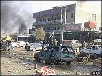 Scene of bombing in Kirkuk