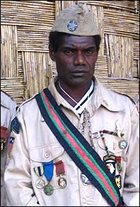 Man in US-style uniform and medals