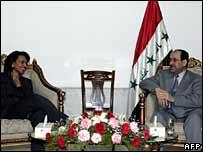 US Secretary of State Condoleezza Rice and Iraqi PM Nouri al-Maliki