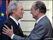 Clint Eastwood and President Jacques Chirac