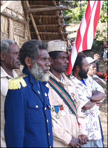 Chief Isaac (in blue) and commanders 