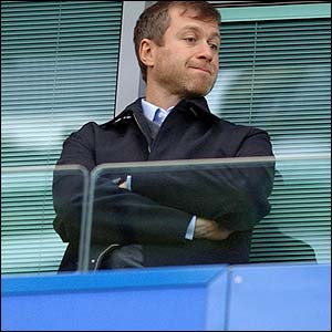 Chelsea owner Roman Abramovich watches from the stands