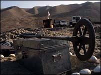 Mine clearance on the Kabul-Jalalabad road