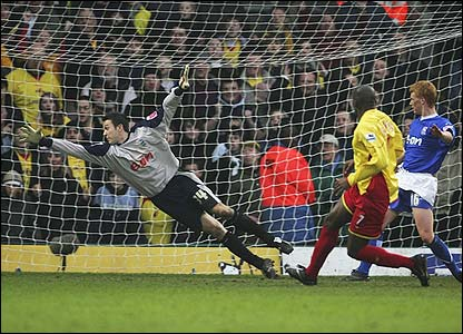 Damien Francis scores the winner for Watford