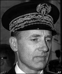 Maurice Papon in French police uniform in 1958