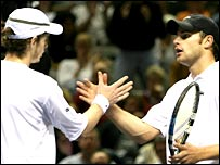Andy Murray (left) and Andy Roddick