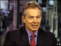 Tony Blair on the BBC's Sunday AM programme