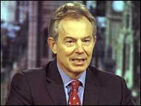 Tony Blair on the BBC's Sunday AM programme