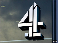 Channel 4's logo on its headquarters in London
