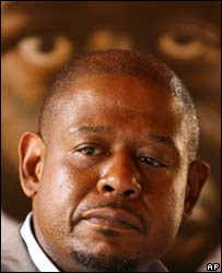 Forest Whitaker at Kampala news conference