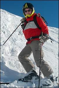 Boy skier