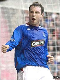 Rangers striker Kris Boyd was on target