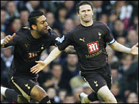 Mido and Robbie Keane