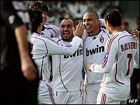 Ronaldo y sus compa�eros