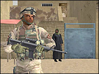 Virtual reality soldier   Image: University of Southern California
