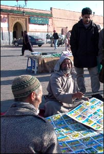 Storyteller in Marrakesh, Morocco