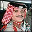 العاهل الأردني الراحل في إحدى سياراته