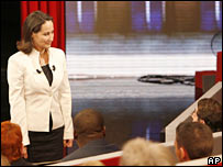 Segolene Royal during TV appearance 19 February 2007