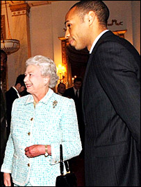The Queen and Thierry Henry