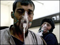 Hospitalised Iraqis overcome by fumes after tanker explosion in Taji