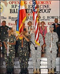 Opening ceremony of the Balikatan exercises in Manila on 19 February
