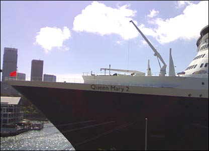Queen Mary 2 in Sydney Harbour