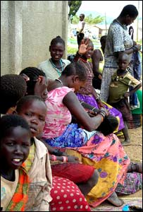 Children waiting at the centre