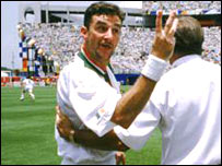John Aldridge, pictured during the 1994 World Cup in the USA