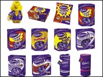 Cadbury Easter eggs