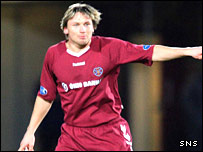 Hearts defender Nerijus Barasa