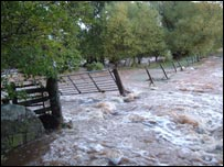 Flooding on the Black Isle in October 2006