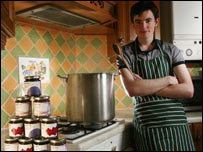 Fraser Doherty in kitchen