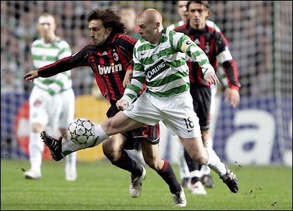 Neil Lennon and Andrea Pirlo do battle
