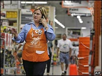 Home Depot employee in store
