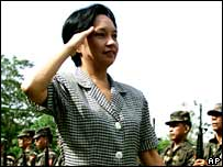 Philippines President Gloria Arroyo in 2001