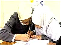 Muslim pupil and teacher