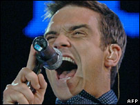 Robbie Williams is one of EMI's artists