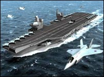 Artist's impression of one of the Future Aircraft Carriers