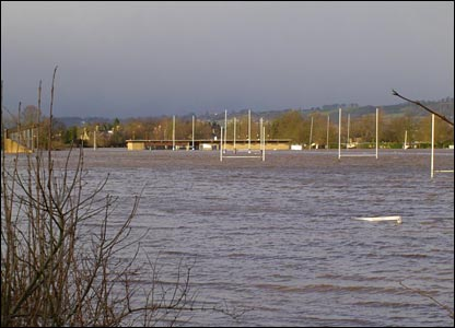 Chris Davidson's flooded pitch