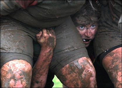 Muddy Rugby Player