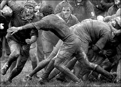 William Cherry's muddy player on the charge