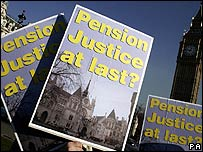 A pension protest