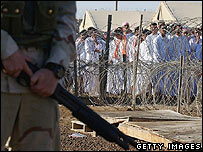 Prisoners at Abu Ghraib
