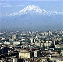 View of Yerevan with Mt Ararat