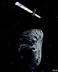 Impression of Rosetta at an asteroid (Esa)