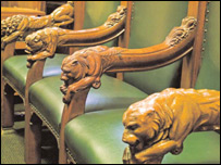 Chairs at Middlesex Guildhall Crown Court