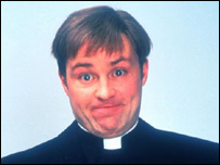 Father Dougal - Ardal O'Hanlon - Channel 4 Four Publicity