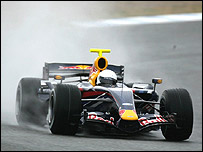 Mark Webber in the new Red Bull