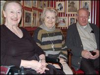 From left: Vera Hindin, Penny Forsyth, Reg Brigden