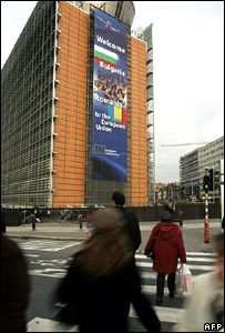 EU headquarters, the Berlaymont building